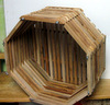 "12"" Octagonal Mahogany Orchid Basket OUT OF STOCK"