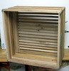 "14"" Square Mahogany Orchid Basket NEW - SUPERIOR QUALITY"