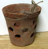 "Rustic Clay Pot 4""w x 4"" h - rough finish"
