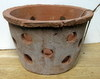 "Rustic Clay Pot 7"" w x 5"" h - rough finish"