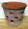 "Rustic Clay Pot 8"" w x 7"" h - rough finish"
