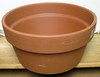 "Clay Pot 12"" shallow, 6"" high, one hole in bottom"