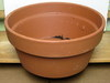 "Clay Pot 14.5"" shallow, 7"" high, one hole in the bottom"