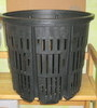 "Net Pot black plastic 13""w x 12"" h"