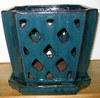 "A-LOTUS-22  Teal 9"" x 9"" x 8"" high  OUT OF STOCK"