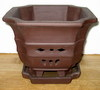 "LOTUS59 Brown matte glaze 8"" x 8"" x 6.5"" high  OUT OF STOCK"