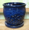 P-LOTUS-16 Hilo Orchid Pot Blue  OUT OF STOCK