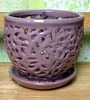 "PE-LOTUS-2  Lacey Orchid Pot - color Twilight - 5"" x 4.75"""