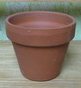"Clay Pot 3 1/2"" x 3 1/4"" high one hole in bottom"