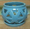 "C-LOTUS-49  BLUE 4"" X 4"" HIGH NO BOTTOM DRAIN HOLE"