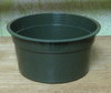 "Green plastic shallow pot 5"" x 2-3/4"" high"