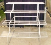 "GREEN BARN ORCHID BENCH - 48"" wide, 4 tier"