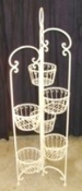 Decorative plant stand - 6 plant holder Cream