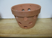 "Rustic Clay Pot 6"" smooth finish"