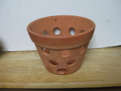 "Rustic Clay Pot 7"" smooth finish"