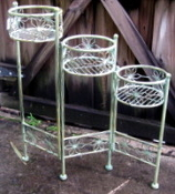 Decorative Plant Stand - 3 plant holder green