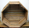 "16"" Octagonal Mahogany Orchid Basket OUT OF STOCK"