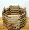 "8"" Octagonal Mahogany Orchid Basket OUT OF STOCK"