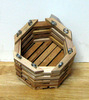 "4"" Octagonal Mahogany Orchid Basket OUT OF STOCK"