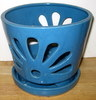 LOTUS78 Lotus Pot- blue round 7 x 6.5 in. high OUT OF STOCK