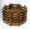 "6"" Star Octagonal Mahogany Basket OUT OF STOCK"