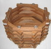 "4"" Star Octagonal Mahogany Basket  OUT OF STOCK"