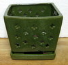 "LOTUS16  Green 7"" x 7"" x 6"" high"