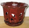 "PA-47 Orchid Pot, Red 5.5"" x 4""  ( OUT OF STOCK )"