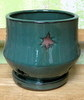 "PA-38 Morning Star Orchid Pot, Jade, 7"" x 6.5"""