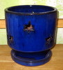 "PA-34 River Star Orchid Pot, Blue, 5.5"" x 5.5"""