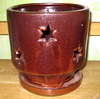 "PA-36 River Star Orchid Pot, Oxide, 5.5"" x 5.5"""