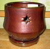 "PA-40 Morning Star Orchid Pot, Oxide, 5.5"" x 5.5"""