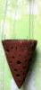 SMALL RUSTIC CLAY CONE POT with hanger OUT OF STOCK