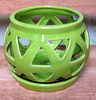 "C-LOTUS-48 Green 4"" X 4"" HIGH  NO BOTTOM DRAIN HOLE"