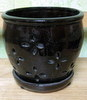 P-LOTUS-64 Hilo Orchid Pot Brown