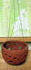 ROUND RUSTIC Artisian planter with hanger