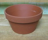 "Clay Pot 6.25"" shallow, 6.25"" x 3.25"" deep"