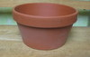 "Clay Pot 7.25"" shallow, 7.5"" x 4"" deep, one hole in bottom"
