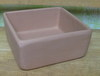 "CS2 Clay Square pot, one hole in bottom 6.5"" x 6.5"" x 3"" high"