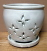 "PF-17 Hilo Orchid Pot, White Rose, 4.5"" x 4.5"" OUT OF STOCK"