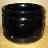 "PA-48 Black pot side holes, no bottom hole, 5"" x 4"""