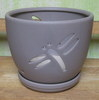 "H-LOTUS14 dragonfly putty 7"" x 7"""