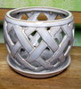 "H-LOTUS8 basket weave cream 6"" x 6"" OUT OF STOCK"