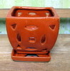 "J-LOTUS8 Orange Lotus Pot 5"" x 5"" high"