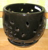 "I-LOTUS36  Black Ceramic 7"" x 7"" high"