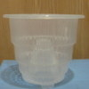 "Crystal-Air 5"" heavy duty clear plastic pot"