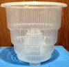 "Crystal-Air 6"" heavy duty clear plastic pot"