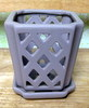 "K-LOTUS7 taupe matte mini diamond 3.5"" x 4"" high OUT OF STOCK"