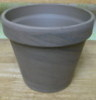 "BASALT clay pot 4.25"" one hole in bottom"