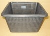 Plastic net pot square 9""